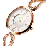 SK K0020 Diamond Dial Case Ladies Stainless Wrist Watch