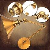 Vintage E27 Swing Arm Brass Wall Lamp Sconce Living Room Stair Restaurant Antique Light