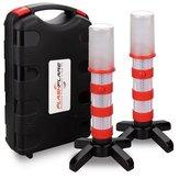 3 dans 1 feux d'avertissement de route Beacon LED feux de route stroboscopiques de sécurité lampe stroboscopique