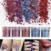 Shining Mixed Glitter Powder Sequins Decoration  3D Dust Red Purple Halloween Nail Art Ornaments