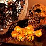 1.2M Batería Power 10 LED Warm White Calabaza de Halloween Cadena Linterna Fairy Home Holiday Light