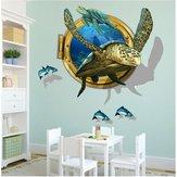 Miico3DCreativoAdesivimuraliin PVC Decorazioni per la casa Murale Art Decalcomanie da parete rimovibili Sea Turtle