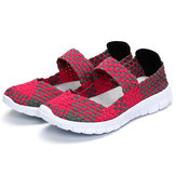 Women Casual Light Knitting Sport Health Breathable Flat Shoes