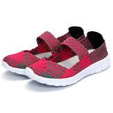 Women Casual Light Knitting Sport Santé Chaussures respirantes plates
