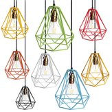 Loft Industrial Metal Frame Ceiling Pendant Hanging Light Lampshade Cage Fixture