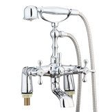 Victorian Traditional Shower Faucet Bathroom Bath Shower Filler Mixer Tap Hand-Held Set