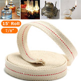 7/8 Inch Flat Cotton Wick 15 Foot Length Wick For Oil Lamps and Lanterns 4.5M
