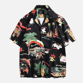 Original Men Island Printed Short Sleeve Hawaiian Shirts