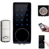 Bluetooth Puerta digital inteligente cerradura Seguridad para el hogar cerradura Perno muerto sin llave con contraseña táctil