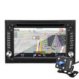 6.2 Pouces 8G 1080P Winger Système Bluetooth Double 2 DIN CD DVD Radio GPS SAT NAV Caméra arrière voiture MP5