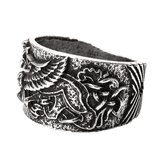 Punk Retro Alloy Dragon Symbol of Norse Viking Warriors Ring