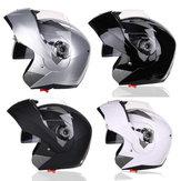 Casque intégral de moto, double lentille anti-buée