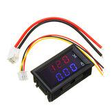 Mini amperímetro voltímetro digital DC 100 V 10A Amperímetro del panel Voltaje Tensión Medidor de corriente Probador 0.56