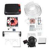 120 мм DIY PC Водяная жидкость Охлаждающий вентилятор Набор Комплект радиатора Блок CPU Water Насос Водохранилище Шланг