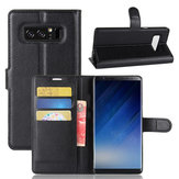 Litchi Texture Wallet Card Slots Bracket Flip PU Leather Case For Samsung Galaxy Note 8