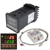 110-240V 0~1300℃ REX-C100 Digital PID Temperature Controller Kit Alarm Function With Probe Relay