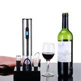 Original LoskiiKC60Conjuntodeabrelatas eléctrico del hogar Conjunto de abrelatas de botella automático de acero inoxidable con base de carga Abrelatas eléctrico de vino tinto 4pcs