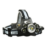 Original XANES 2508B 2800LM 2×XPE+5×XML-T6 7LED 5Modes USB Charging Whistle Headlamp 18650 Battery