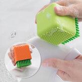 Honana BC-565 Hogares de uso múltiple Cuarto de baño Silicona Limpieza Cepillo Maquillaje Limpiador Lavado Lavador herramienta Lavandería Limpieza Cepillo Lavado herramienta