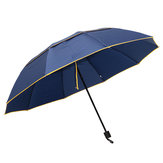 2-3 People Outdoor Portable 3 Folding Umbrella 130cm Waterproof Anti-UV Camping Sunshade