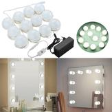 4M 12Bulbs White Hollywood Style LED Vanity Mirror Lights Kit + EU Adapter+Dimmer DC12V