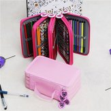 72 Holes 4 Layers Pen Pencil Case Stationary Pouch Bag Travel Cosmetic Brush Makeup Storage Bag