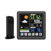 TS-3310-BK Station météorologique sans fil à écran tactile Écran couleur multifonctions Température intérieure et extérieure Compteur d'humidité Horloge Station de prévision météorologique