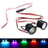 Pair 12V Spot Lightt LED Flashlight Motorcycle Headlight Daytime Running Light