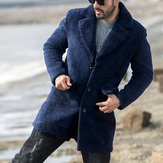 Original Mens Winter Thick Warm Faux Shearling Jacket Fleece Coat