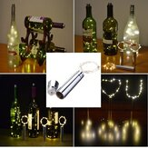 90CM 15LEDs Cork Shaped Silver Wire Starry String Light Wine Bottle Lamp For Party Decor