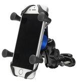 4-6 pouces X-type Téléphone GPS Support en alliage d'aluminium Guidon Rétroviseur E-Scooters Vélo moto