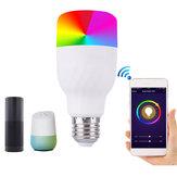 E27 7 W Dimbare RGBW WIFI APP Controle LED Smart Gloeilamp voor Alexa Google Home AC85-265V