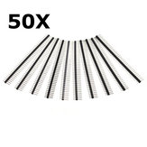 50 Pcs 40 Pin 2.54mm Single Row Male Pin Header Strip For Arduino Prototype Shield DIY