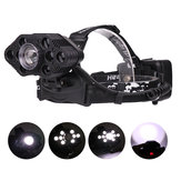 XANES 2205 4500LM 9*T6 LED 3 Modes Headlamp 3*18650 Battery USB Interface Telescopic Zoomable Head Light
