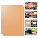 Original Honana 3pcs Heat Resistant BBQ Grill Mat Copper Bakeware Mat Barbecue Roast Sheet Portable Easy Clean Grill Pad BBQ Tool