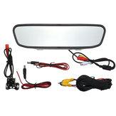 4.3inch Car LCD TFT Mirror Rear View Monitor 4LED Night Vision Rear View Camera