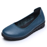 SOCOFY Pure Color Comfortable Soft Chaussures plates