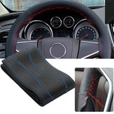 Universal Max 38cm Diameter DIY PU Leather Car Steering Wheel Covers with Needles and Thread
