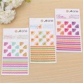 3 Pcs Korea Simple Life Painting Diary Stickers Diary Book Album Decoration
