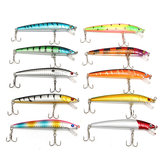 ZANLURE Lot 20pcs Assorted Colors Minnow Fishing Lures Crankbaits Sharp Hooks Bait Tackle