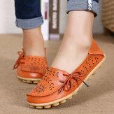 SOCOFY Grande Taille Occasionnelles Chaussures Plates Confortables Creux Floral Dentelle Extérieur