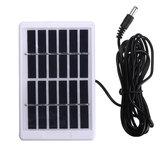 6V 1.2W Durable Impermeable Solar Cargador de panel para luz de emergencia cámping Lámpara