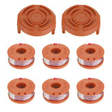 Original 6Pcs Grass Trimmer Spool Line with 2Pcs Spool Cap Cover For Worx WG150s WG152