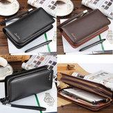 MultifunctionelePUlederenritsveiligheidsveiligheidskaarttas Bag Clutch Long Purse Wallet Handtas telefoon tas