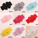 Niñas Niños Bebé Niño Bowknot Arco Headbrand Soft Elastic Sweet Cabello Use Wrap Turban Accesorios