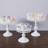 White Round Cake Cupcake Stand Modern Dessert Wedding Birthday Party Event Decor