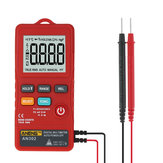 ANENG AN302 Push-button Card Digital Multimeter AC/DC Tester With Flashlight - Red
