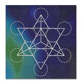 Original 50x50cm Flor de la vida Tela de rejilla de cristal Geometría sagrada Mantel curativo Hermosas decoraciones