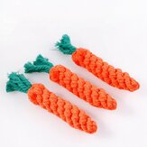 Original Creative Environmental Simulation Carrot Cat Dog Knot Double Knot Cotton Rope Pet Dog Chewing Toy