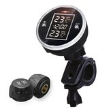 Motorcycle ATV Bicycle 2-sensor Wireless TPMS Tire Tyre Pressure Monitor System With LCD Display